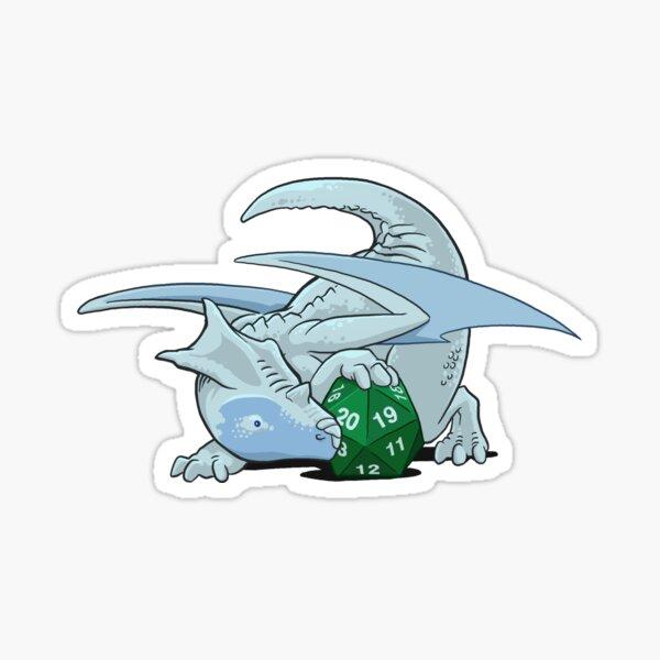 D20 White Dragon Sticker