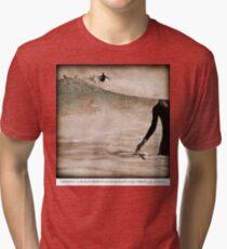 Surfer Waits... Tri-blend T-Shirt