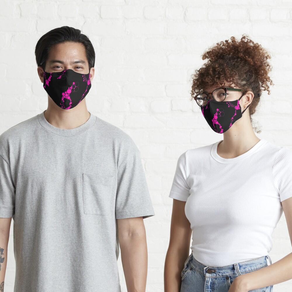 Pink Bubble Circles Abstract  Mask