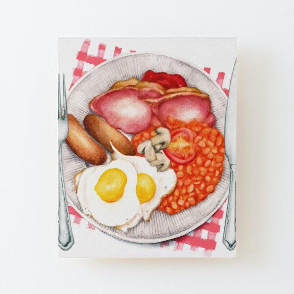 Full English - Fry Up Wood Mounted Print