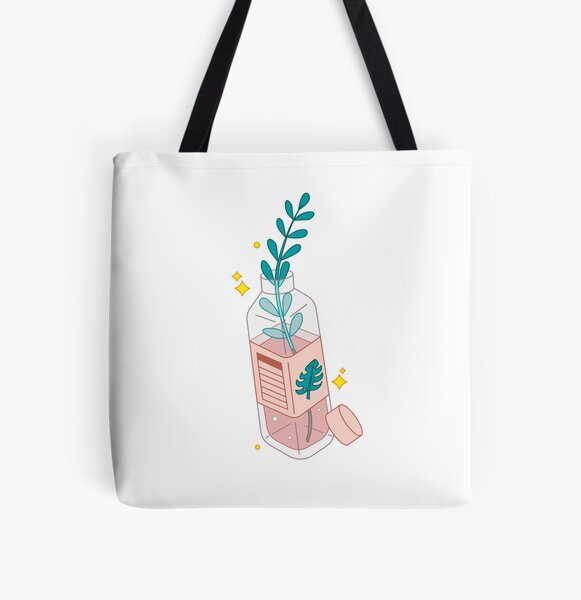 Peachy Plant All Over Print Tote Bag