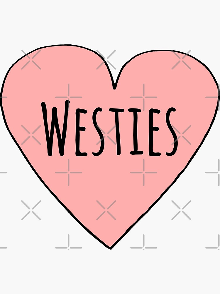 I Love Westies Cute Westie Dog Mom Heart Shape Valentines Day Gift by sunnystore