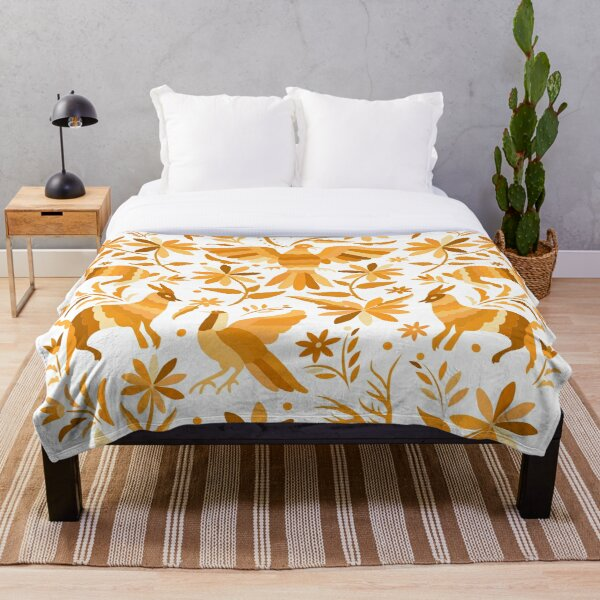 Mexican Otomi Design in Yellow Manta
