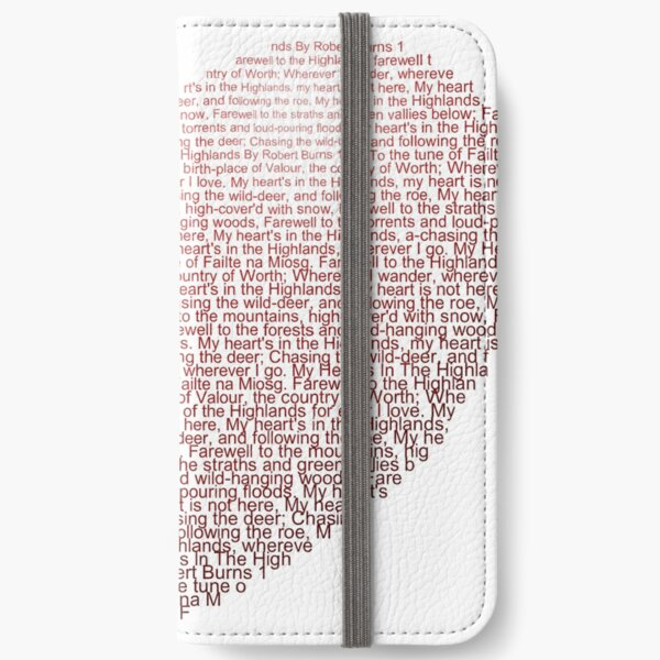 My Heart's In The Highlands iPhone Wallet