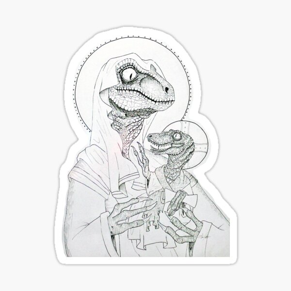 Jurasic and Holy Sticker