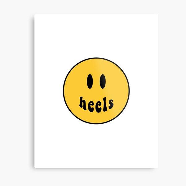Heels Smiley Face Metal Print