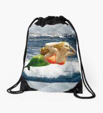 Mermaid ~ Feeling Free   Drawstring Bag