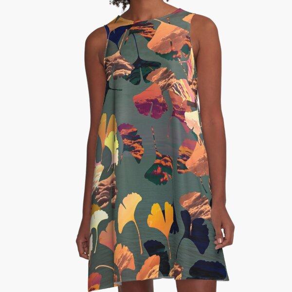 Autumn ginkgo biloba A-Line Dress