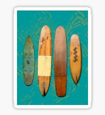Old Surf Boards for Old Hippies, vintage, retro. Sticker