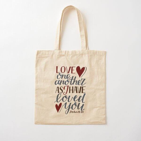 Love One Another As I Have Loved You - John 13:34 Cotton Tote Bag