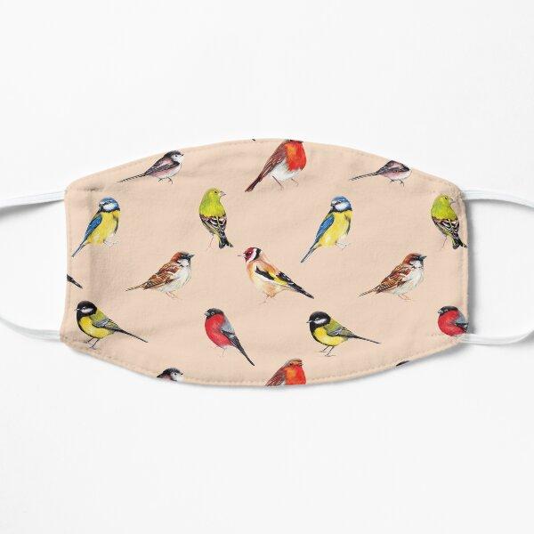 Watercolour Garden Birds Collection Flat Mask
