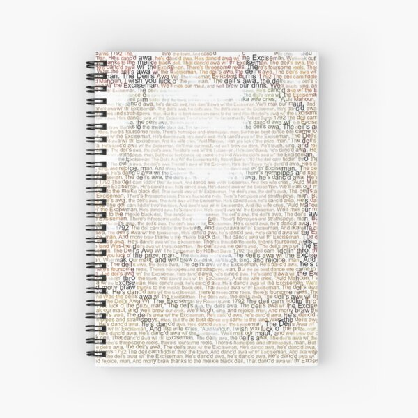 The Deil's Awa Wi' The Exciseman-Whiskey Casks - Colour Spiral Notebook