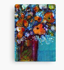 Orange Flowers in a vase - Kerry Beazley Canvas Print