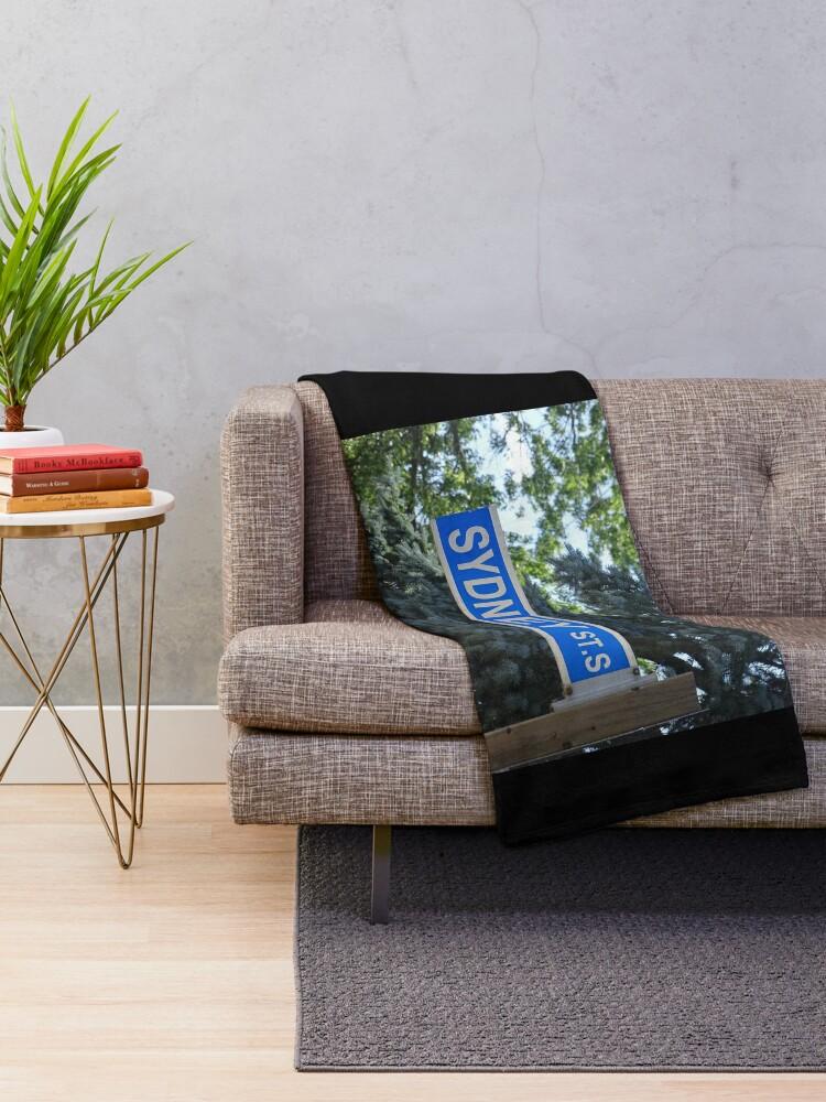 Alternate view of Sydney, Sydney magnet, Sydney sticker  Throw Blanket