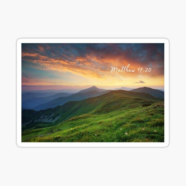 Matthew 17:20 Mountainside View Sticker