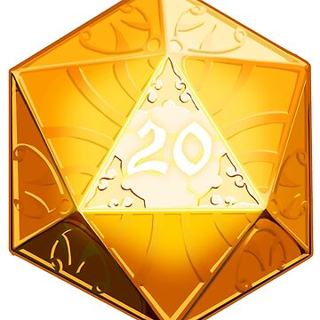 NATURAL 20 CRITICAL SUCCESS D20 DICE by MonkeyKnot