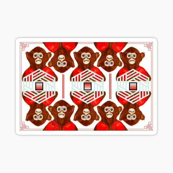 Fighter Monkey 2.0 Sticker