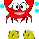 crab & 2 fish (7646 Views) by aldona