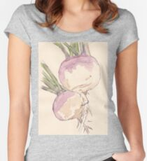 Sweet, delicate Turnips, Vegan delight - Botanical Women's Fitted Scoop T-Shirt