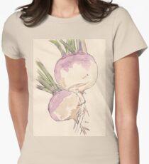 Sweet, delicate Turnips, Vegan delight - Botanical Womens Fitted T-Shirt