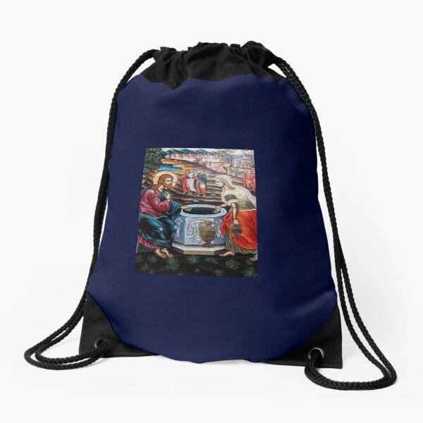 The Samaritan Woman - Jacobs Well  Drawstring Bag