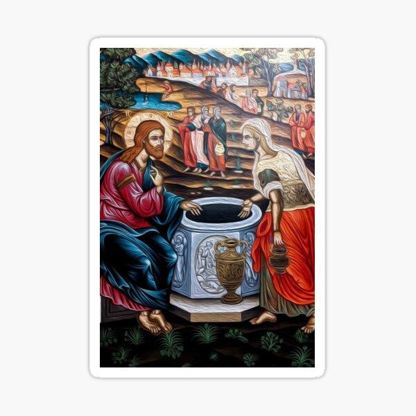 The Samaritan Woman - Jacobs Well  Sticker