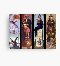 Haunted mansion all character Canvas Print