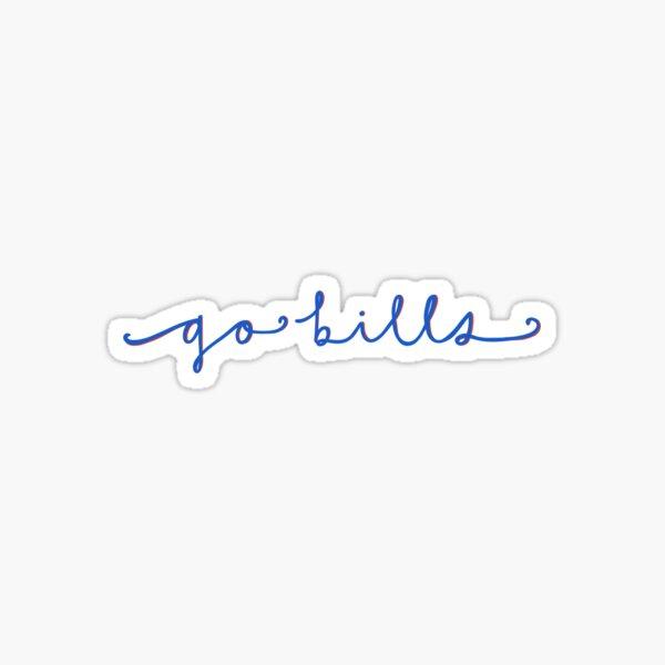 Go Bills (cursive) Sticker