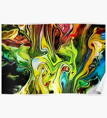 abstract painting for graphic design and illustration Poster