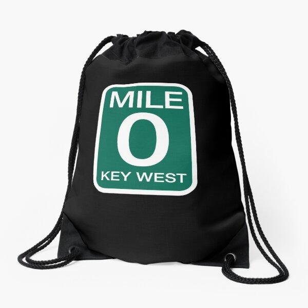 Mile 0 Key West  - Mile Marker 0 Florida Drawstring Bag