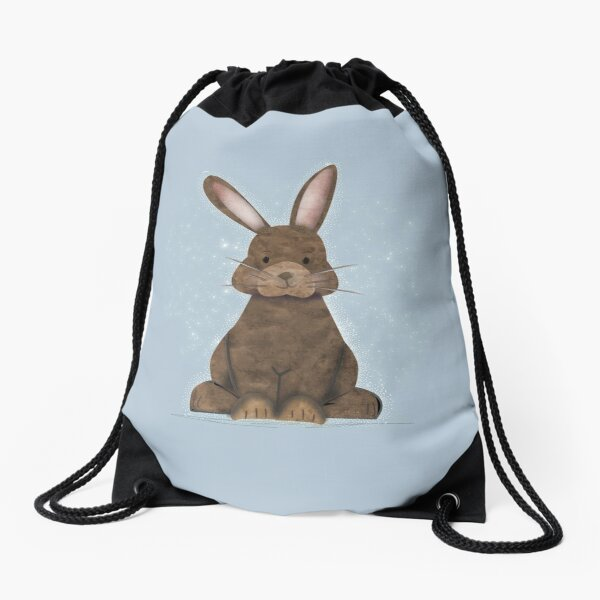 Adorable Traditional Vintage Watercolor Rabbit - cute Drawstring Bag
