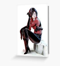 Resident evil - Ada Wong Tribute Greeting Card