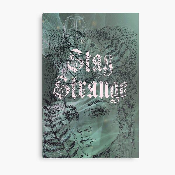 Serpent Vert Stay Strange Impression métallique
