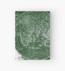 World Map (1811) Green & White  Hardcover Journal