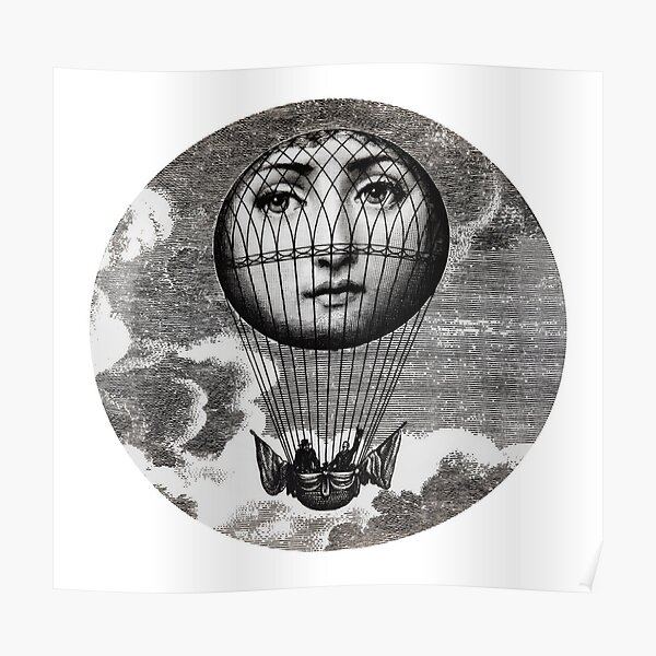Montgolfière Fornasetti Poster