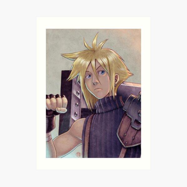 Final Fantasy VII - Cloud Strife Tribute Lámina artística