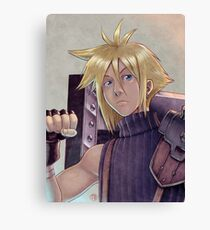 Final Fantasy VII - Cloud Strife Tribute Canvas Print