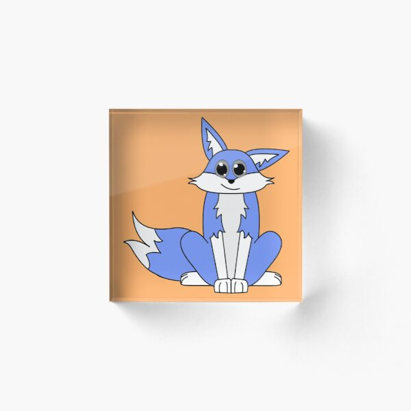 Rocky the Blue Fox Acrylic Block