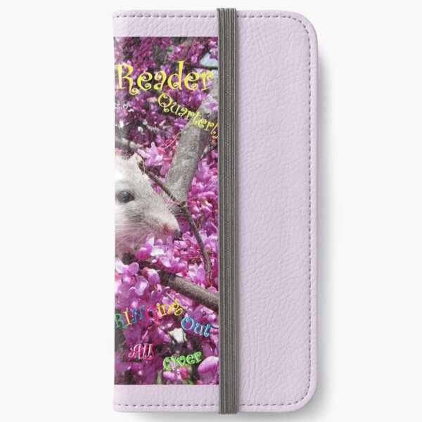 Pet Rat Rahab on a Rodent Reader Magazine Cover iPhone Wallet