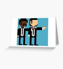 8Bit Pulp Fiction Greeting Card
