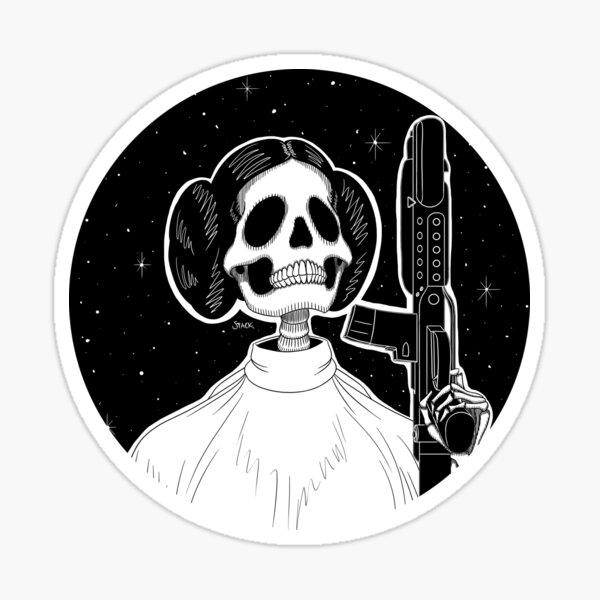 Leia (Stack's Skull Sunday) Sticker