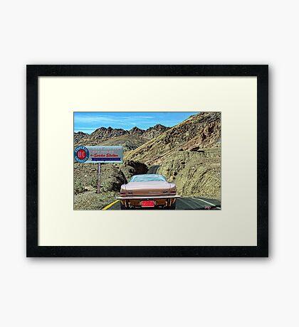 Last Gas For 151 Miles Framed Print