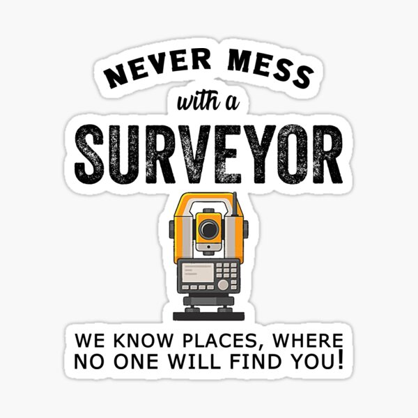 Land Recorder Technician Gift For Cartogropher Surveyor Sticker