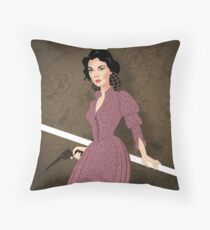 Scarlett fire Throw Pillow
