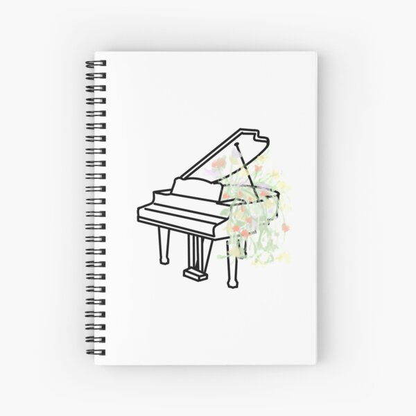Piano Growth Spiral Notebook