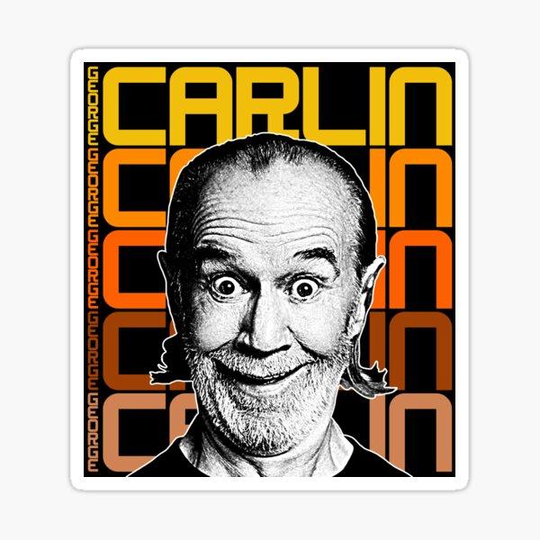 George Carlin :: Retro Comedy FanArt Tribute Sticker