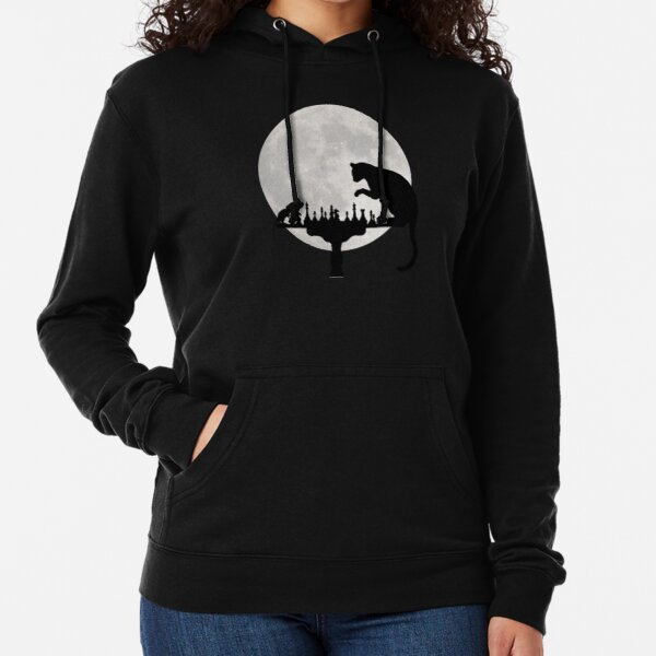Cat and Rat Playing Chess  Lightweight Hoodie