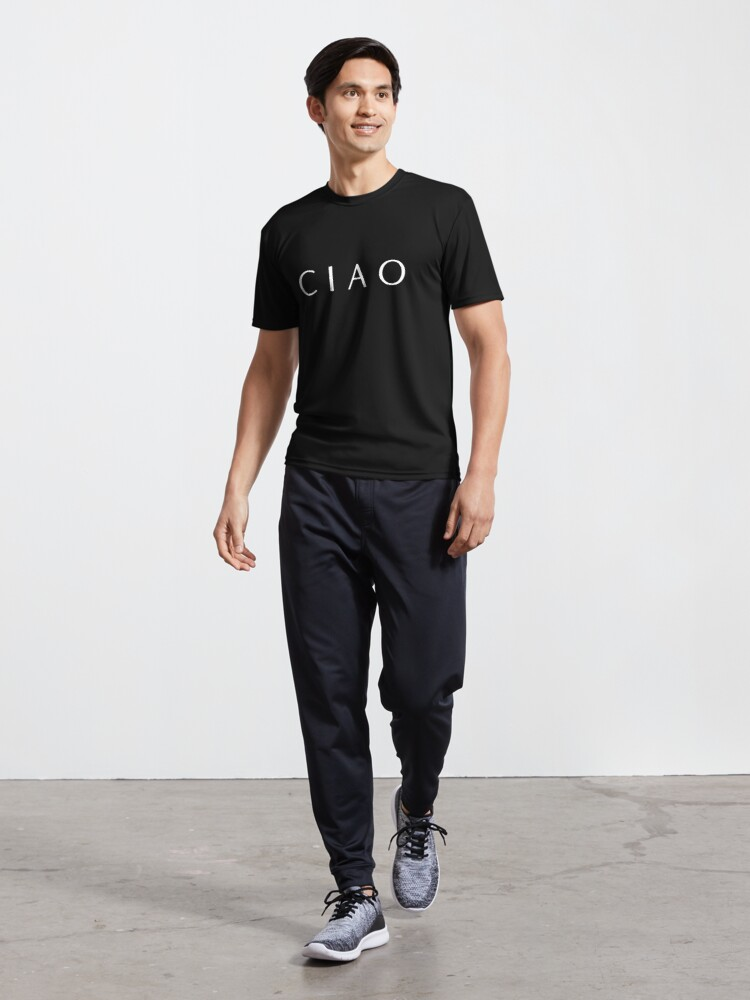 Alternate view of CIAO Italian design how to say hello and goodbye Active T-Shirt