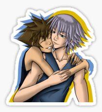 SoRiku hugs - without background Sticker