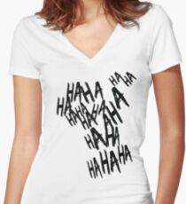 HAHA Women's Fitted V-Neck T-Shirt